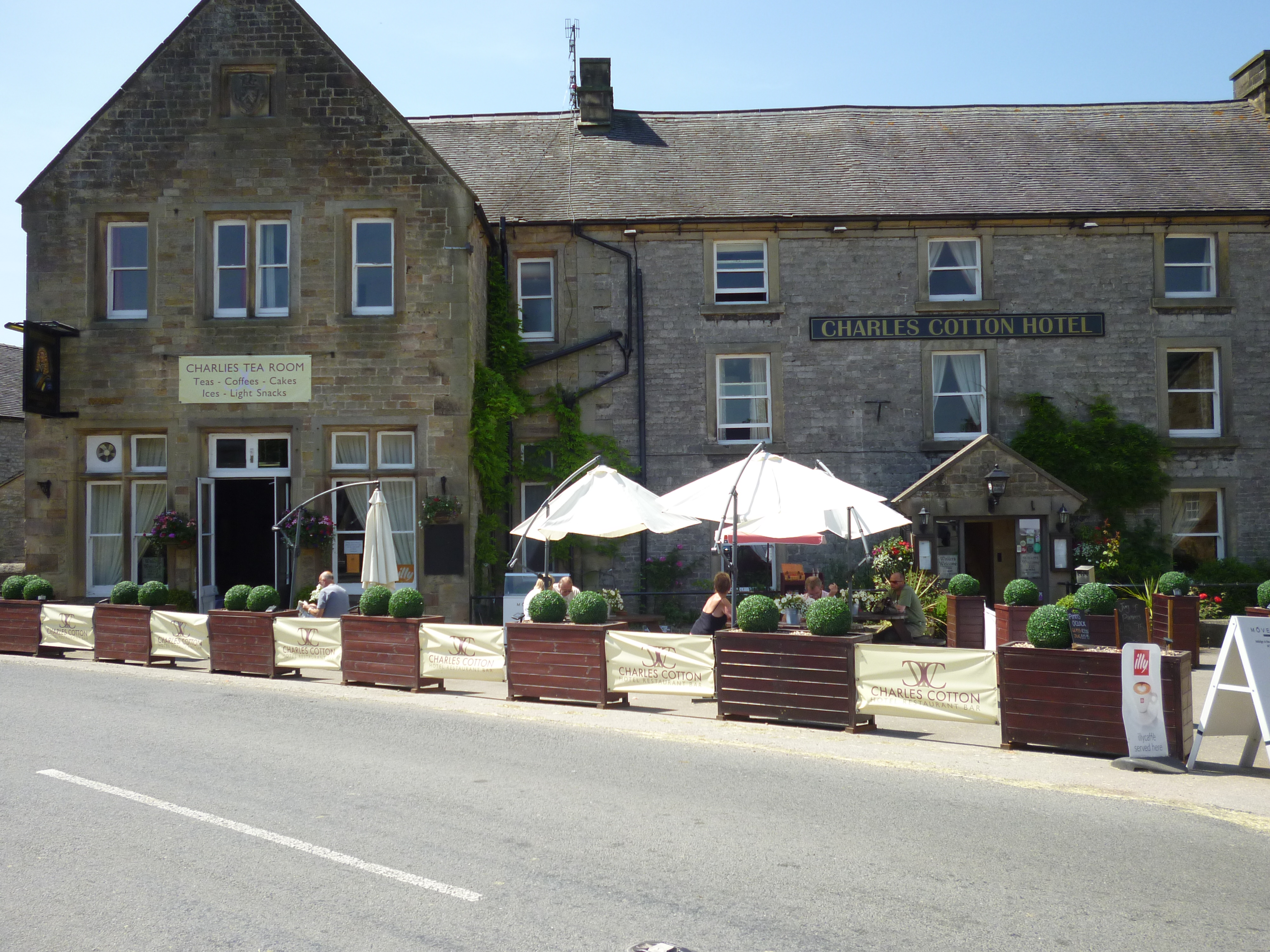 The Charles Cotton Hotel in Hartington in the Peak District National Park