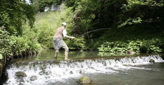 Fishing in the footsteps of Charles Cotton in Beresford Dale