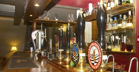 A great selection of locally-brewed beers at the Charles Cotton Hotel